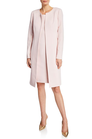 Albert Nipon Two-Piece Topper Coat & Sheath Dress Set