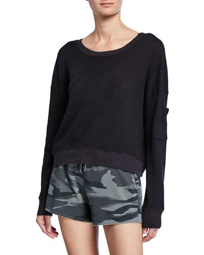 Thermal Academy Sweatshirt  Black