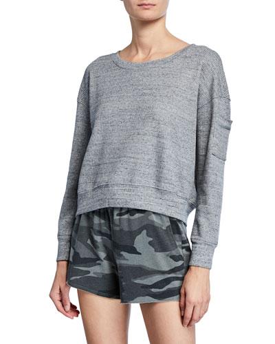 Thermal Academy Sweatshirt  Heather Gray