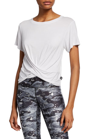Terez Short-Sleeve Twist-Front Tee