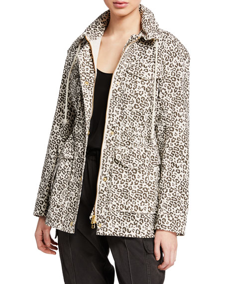 ATM Anthony Thomas Melillo Lunar Leopard Zip-Front Field
