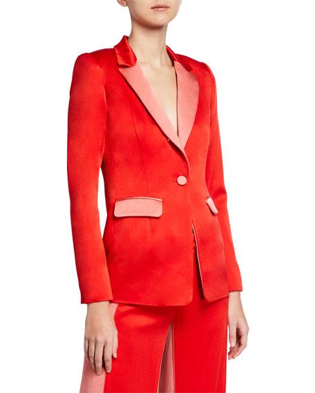 Alexis Jackets Nevra Satin Single-Button Blazer