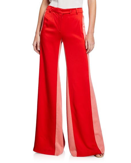 Alexis Pants FLIN TWO-TONE SATIN PANTS