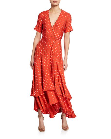 Sundara Printed Short-Sleeve Wrap Dress