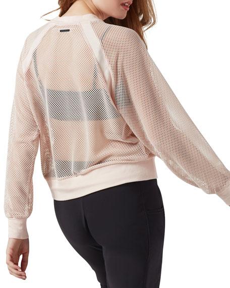 Blanc Noir Irie Cropped Mesh Sweatshirt