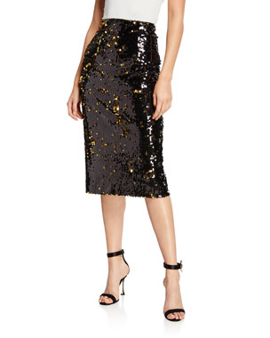 7e61c52926e7 Milly Sequined Midi Pencil Skirt
