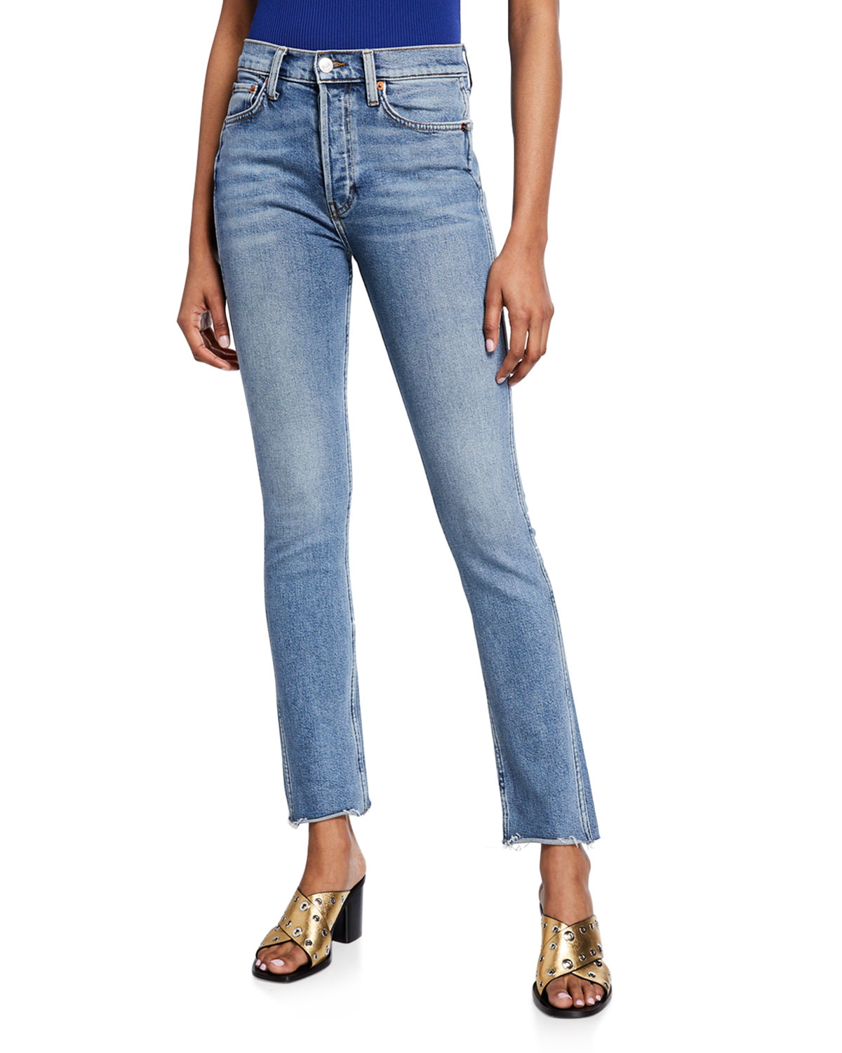 Needle Raw Straight With Marcus Double Redone Jeans HemNeiman Long nvywO8m0N