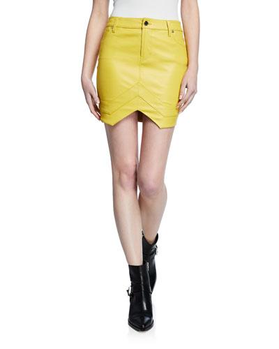 Tempest Leather Mini Skirt
