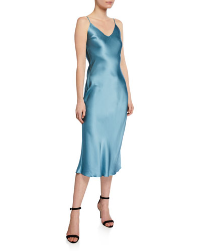 Taylor Silk Slip Midi Dress