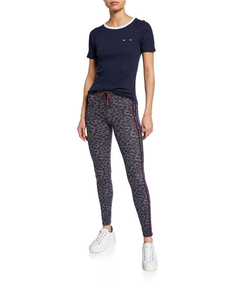 The Upside Snow Leopard Printed Yoga Pants