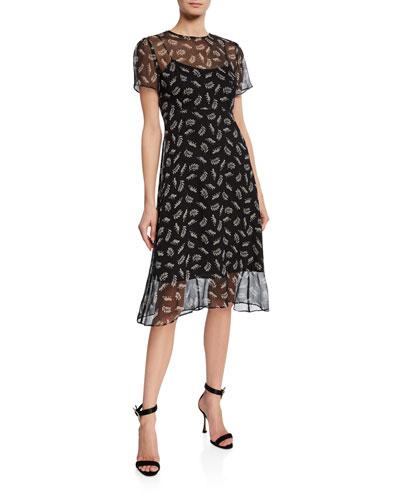 Lindy Silk Chiffon Dress
