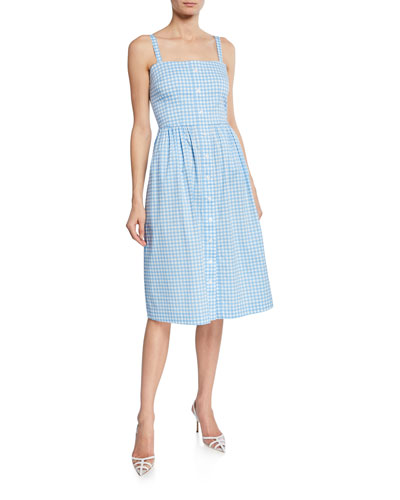 Laura Cotton Gingham Dress