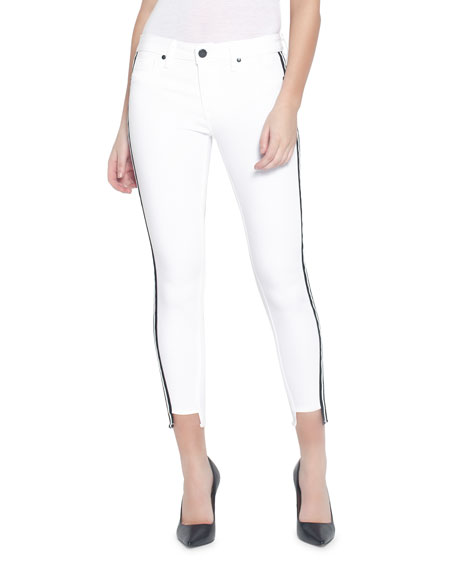 Parker Smith Jeans TWISTED SEAM CROPPED SKINNY JEANS