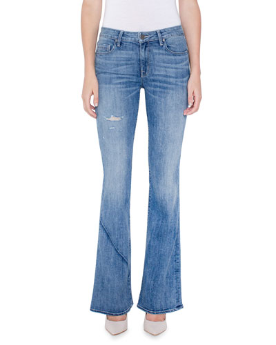 Becky Boot-Cut Jeans w/ Distressing