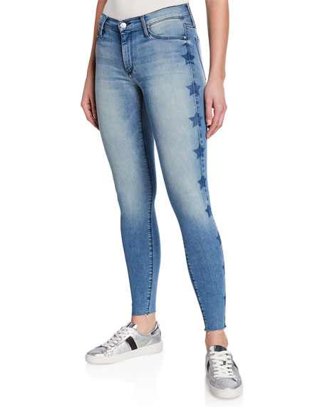 Black Orchid  NOAH ANKLE FRAY SKINNY JEANS W/ STARS