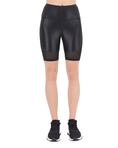 Cypher Mesh High-Waist Bike Shorts