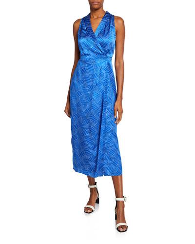 Katherine Silk Wrap Maxi Dress