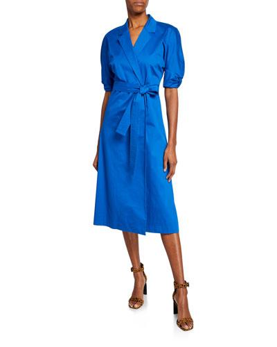 Anitone Short-Sleeve Wrap Dress