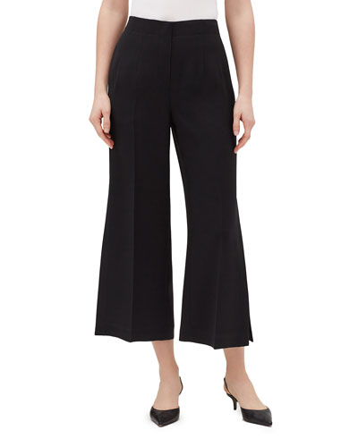 Downing Finesse Crepe Cropped Slit Pants
