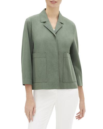 Layken 3/4-Sleeve Italian Pima Cotton Bi-Stretch Jacket