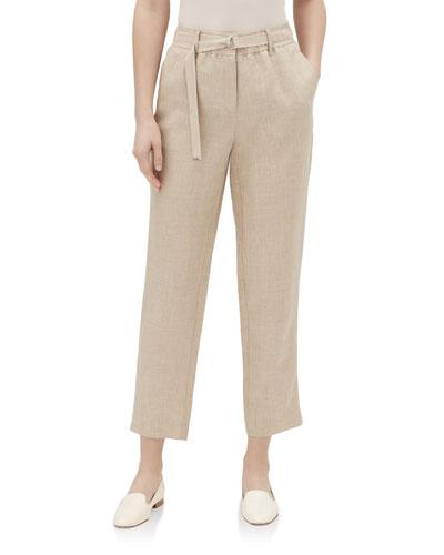 Dekalb Straight-Leg Cropped Nexus Linen Pants