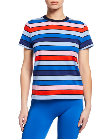 Tory Sport Shorts STRIPED SHORT-SLEEVE ACTIVE TEE