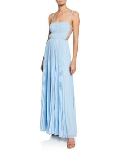 The Erina Sleeveless Tie-Back Dress with Cutouts