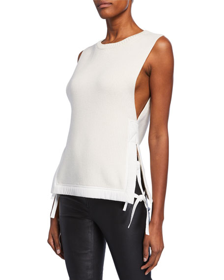 Helmut Lang Tops MILITARY RIBBED VEST
