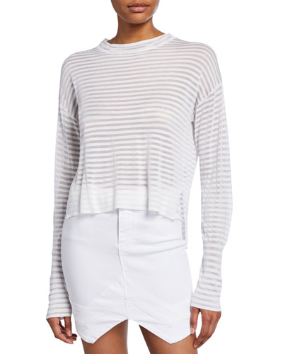 Gilda Striped Long-Sleeve Top