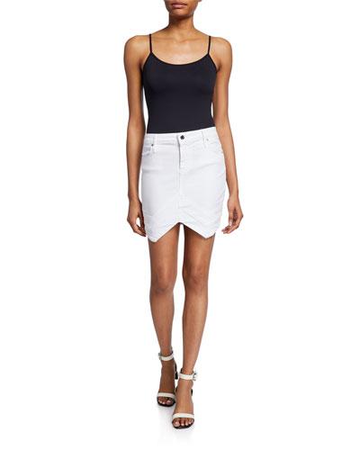 Tempest Arched-Hem Mini Skirt