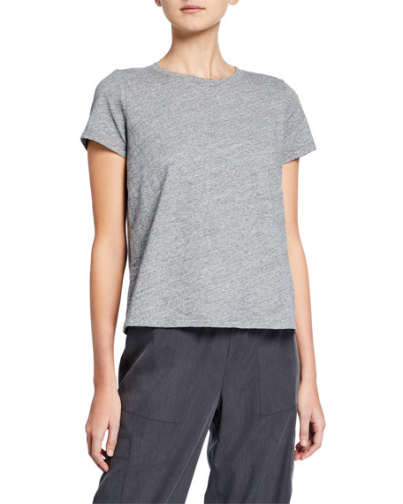 Eileen Fisher Shorts MELANGE CREWNECK SHORT-SLEEVE ORGANIC COTTON TEE