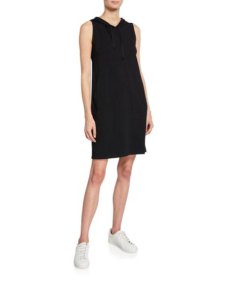Eileen Fisher Dresses HOODED SLEEVELESS COTTON JERSEY DRESS