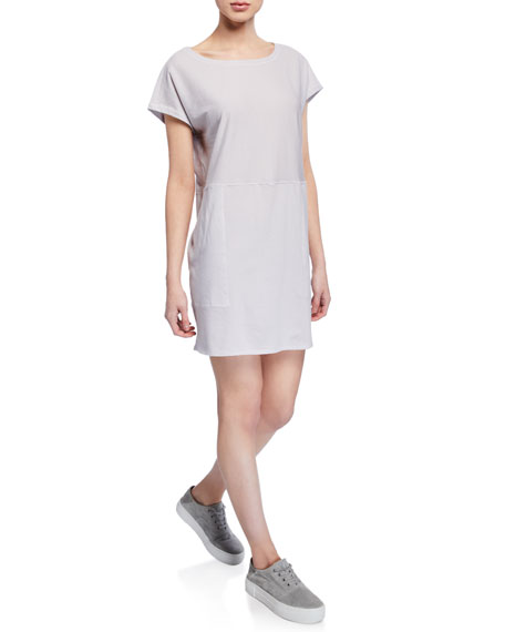 Eileen Fisher Dresses PETITE MINISTRIPE TUNIC DRESS WITH POCKETS