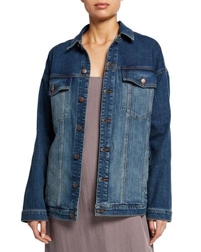 Oversized Long Jean Jacket