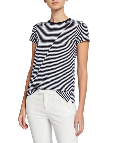 Striped Jersey Short-Sleeve Tee