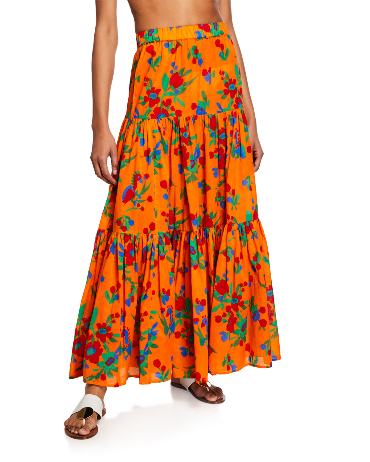 d9a2fdde4cc8 Tory Burch Floral-Print Tiered Coverup Maxi Dress