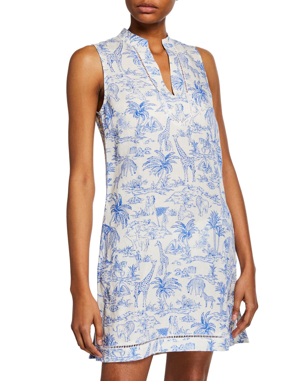 Printed Sleeveless Beach Dress by Tory Burch