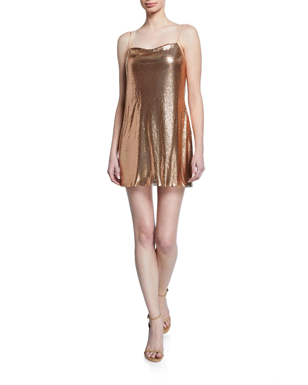 0183109b41c Alice + Olivia Harmony Chainmail Mini Slip Dress