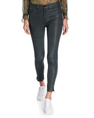 47577ada14f2b Rag   Bone High-Rise Ankle Skinny Leather Pants