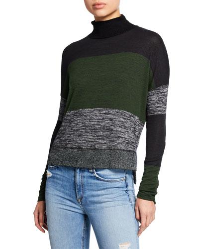 9eca5dd2af Bowery Striped High-Low Turtleneck Sweater. Add to favorites