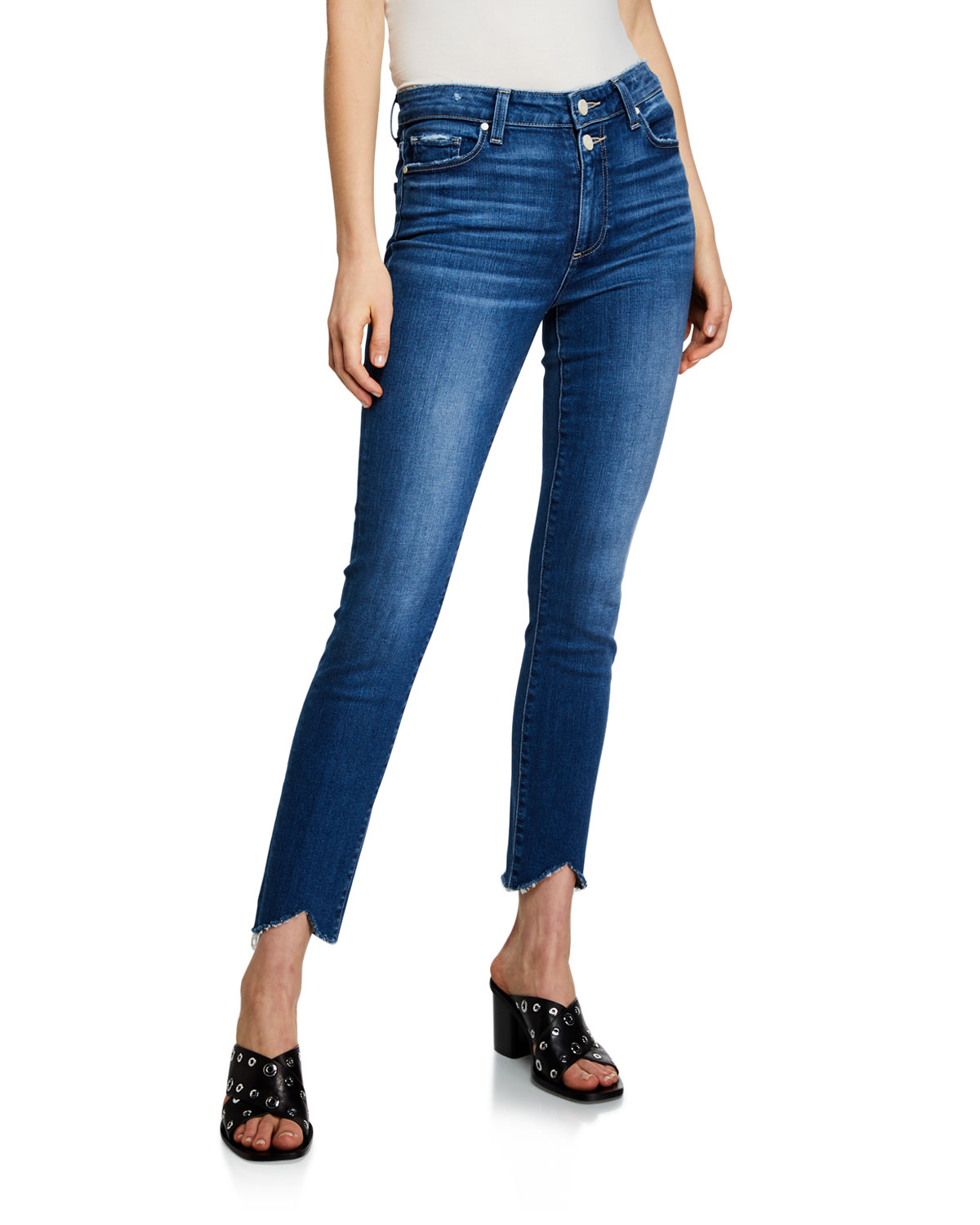 f914a2afe8c PAIGE Hoxton Ankle-Split Skinny Jeans with Double Buttons