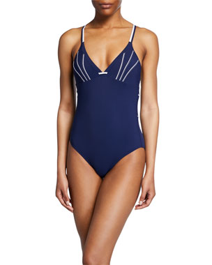 e71933a28 Lise Charmel Distinction Nautiqu Strappy One-Piece Swimsuit