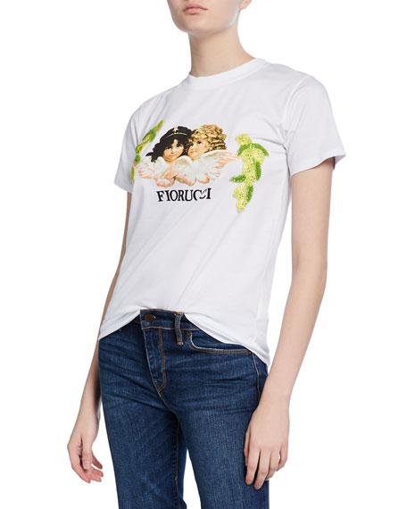 Fiorucci Bianca Embellished Lemon Embroidery Angels Tee