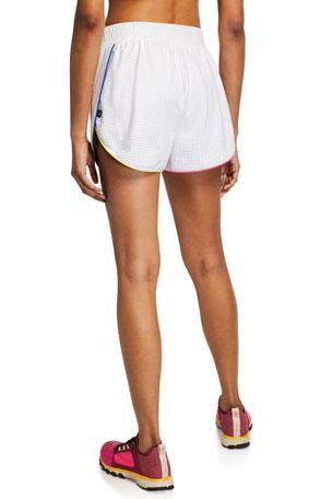 Girls Summer Running Shorts Kids Hart Print Mesh Inserts Pipping Details 3-14Y