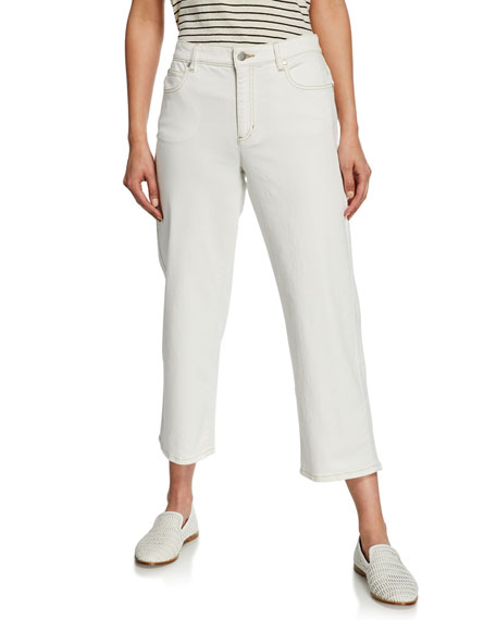 Eileen Fisher Jeans STRAIGHT-LEG CROP DENIM JEANS