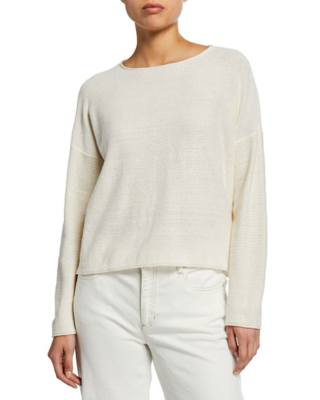 Eileen Fisher Sweaters ROUND-NECK RECLAIMED HEMP/COTTON SWEATER