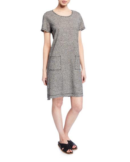 Eileen Fisher Dresses MINI-STRIPE SHORT-SLEEVE DRESS