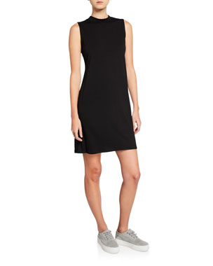 856850d1ce5316 Eileen Fisher Petite Mock-Neck Sleeveless Jersey Dress