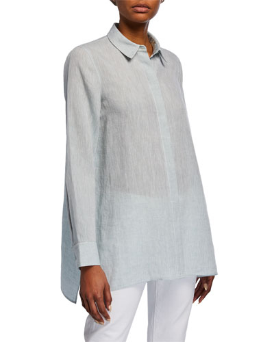Plus Size Porto Illustrious Linen Blouse