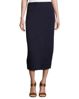 0032fa382a3 Eileen Fisher Washable Silk Cotton Midi Pencil Skirt